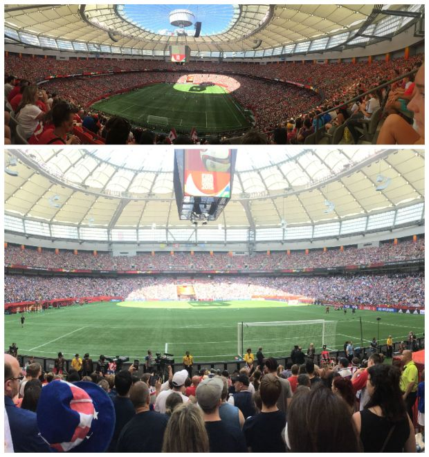 The biggest thing that happened to me this summer was going to the Women's World Cup in Canada. I got to go to six games total, including the mind-blowing final.